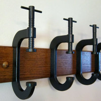 $87.00 CClamp coat rack by gbtrains on Etsy