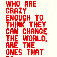 $15.00 The Crazy Ones Art Print by Wordboner | Society6