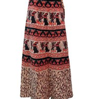 Wrap Around Skirts Boho Hippie India Tribal Print Wrap Skirt for Women 40