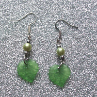 Elf Maiden - Lucite Leaf Earrings from On Secret Wings