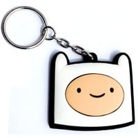 Adventure Time Finn Head 3-d Rubber Keychain