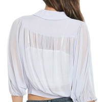 Mesh Banded Blouse | Shop Sale at Wet Seal