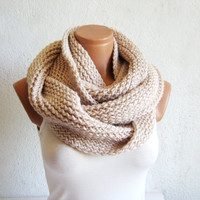 Valentines Day Sale  infinity ScarfKnit Block by WomanStyleShop