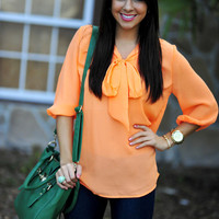 Highlight Of My Life Blouse: Neon Orange | Hope&#x27;s