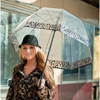 Premium Fiberglass Bubble Umbrella Color: Cheetah Trim
