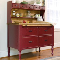 American-Made Solid Pine Baking Cabinets - Plow & Hearth