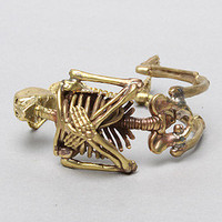 The Skeleton Bracelet in Brass