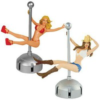 Dashboard Babe Pole Dancer - Swinging Girl Hot Car Accessory Toy