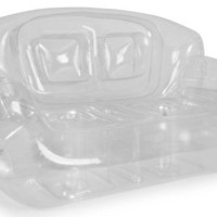 Bubble Inflatables Inflatable Couch, Crystal Clear