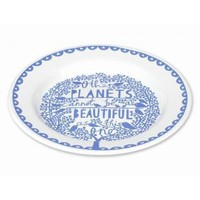 Rob Ryan Other Planets Enamel Plate - Enamel / Tinware from the gifted penguin UK