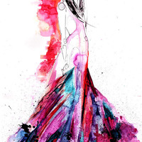 Efflorescence // FASHION ILLUSTRATION // A3 Giclée print