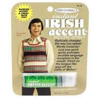 Instant Irish Accent Breath Spray - Whimsical  Unique Gift Ideas for the Coolest Gift Givers