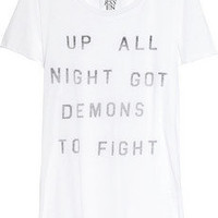 Zoe Karssen | Up All Night cotton and modal-blend T-shirt  | NET-A-PORTER.COM