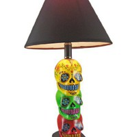 DAY OF THE DEAD 3D Sugar Skull Table Lamp W/ Shade