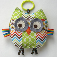 Rupert the Patchwork Owl Crinkle Toy comes with by angiebabygifts