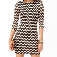 Metallic Zigzag Bodycon Dress | FOREVER 21 - 2019572192