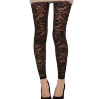 Natasha Black Lace Leggings