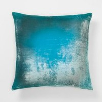 Aqua Ombre Velvet Pillow - Anthropologie.com