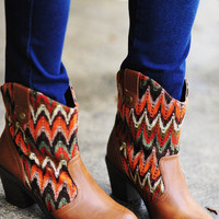 RESTOCK Little Miss Chevron Boots: Multi | Hope&#x27;s