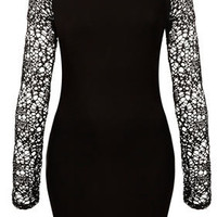 Knitted Lace V-Back Dress - Sale  - Sale & Offers