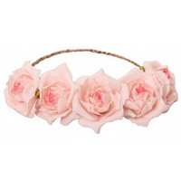 Libby Floral Head Crown - Pink