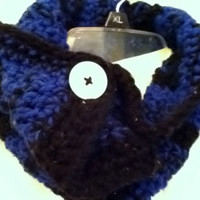 Neck Warmer In Blue and Black