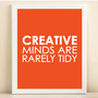 Tangerine Creative Minds print poster by AmandaCatherineDes
