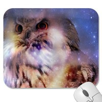 Eurasian Eagle-owl Mousepad from Zazzle.com