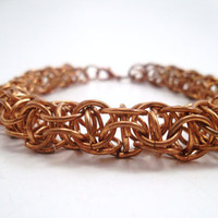 Bronze Chainmail Bracelet by SerenityInChains on Etsy