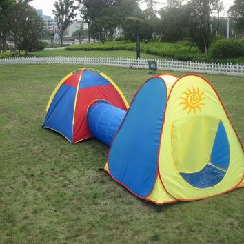 Kids Play Tent, Play Ground, Room, Child Tunnel New Play Hut. Inside - Outside.
