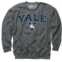 Yale Bulldogs Dark Heather Perennial Ii Crewneck Sweatshirt