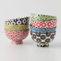Tiled &amp; Dotted Bowl - Anthropologie.com