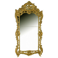 French Louis XV Gilt Mirror at 1stdibs