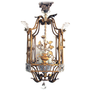 A Rare French Gilt-Metal Square Form Lantern; by Bagues, Paris at 1stdibs