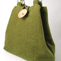 olive green handmade hobo tote shoulder bag 2 way bag by daphnenen