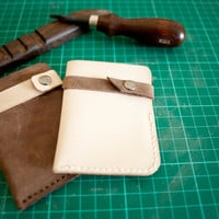 Leather Card Holder / money holder / wallet / namecard by calfunk