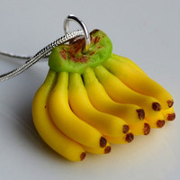 Miniature Banana Necklace by SweetnNeatJewellery on Etsy
