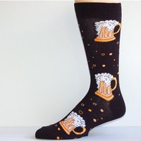 Socksmith Men's Beer Mug Crew Socks