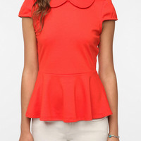 Urban Outfitters - Pins and Needles Sarah Jane Peplum Top