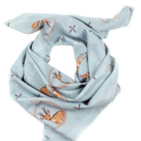 Blue Deer Scarf