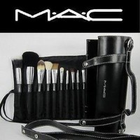 Amazon.com: 16pcs Professional Cosmetic MAC Makeup Brushes Set with Pu Leather Cover: Beauty