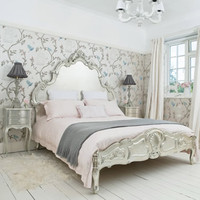 Sylvia Silver Bed  |  Beds  |  Beds & Mattresses  |  French Bedroom Company
