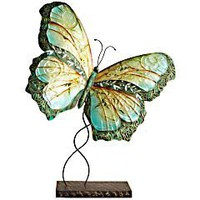 Product Details - Turquoise Metal Butterfly