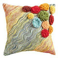 Product Detail - Wool Flowers Pillow