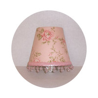 Shabby Chic Pink Roses ~ Night Light by ToileChicBoutique on Etsy