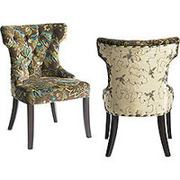 Pier 1 Imports &gt; Catalog &gt; Furniture &gt; Pier1ToGo Product Details - Peacock Tufted Dining Chair