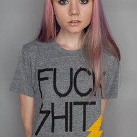 Fuck Shit Up Tee in Athletic Grey : Petals and Peacocks : Karmaloop.com - Global Concrete Culture