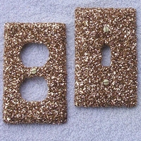 Gold Rush Glitter Light Switch / Outlet Cover