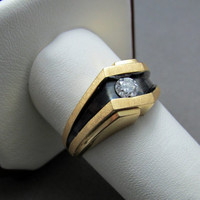 14k Mens Diamond Ring .25 carat 3.7g Size 9.5