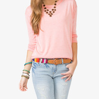 Heathered Long Sleeve Top